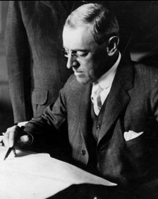 28th President of the USA Woodrow Wilson
