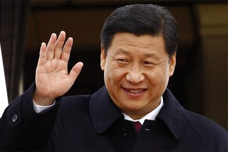 president of China Xi Jinping says goodbye